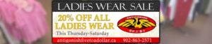 Antigonish 5 to a Dollar: Ladies Wear Sale