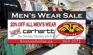 Antigonish Five to Dollar - Mens Wear Salea