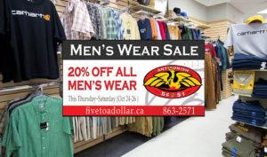Antigonish Five to Dollar - Men's Wear Salea