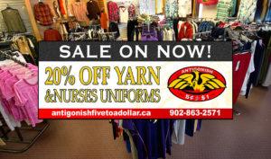 Antigonish Five to Dollar - Yarn & Nurses Uniforms