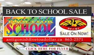 Antigonish 5 to 1 - Back To School Sale