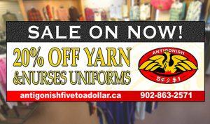 Yarn & Nurses Uniform sale - Sept 2018